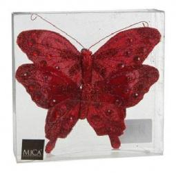 фото Елочное украшение Christmas House «Бабочки». Цвет: красный