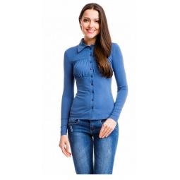 фото Блузка Mondigo 517. Цвет: джинсовый. Размер одежды: 46
