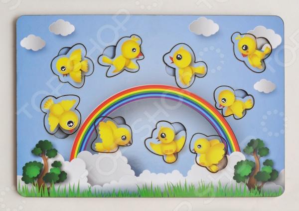 Игра развивающая Мастер игрушек «Рамка-вкладка: Птички»Другие обучающие и развивающие игры<br>Игра развивающая Мастер игрушек Рамка-вкладка: Птички увлекательная развивающая игра, которая ознакомит вашего малыша с птицами. Яркий красочный дизайн понравится любому ребенку. Рамка-вкладка способствует целостному восприятию, расширяет представление ребенка об окружающем мире и развивает любознательность, учит сопоставлять предметы по форме и размеру.<br>