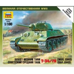 фото Сборная модель Звезда советский средний танк Т-34/76 (1940 год)