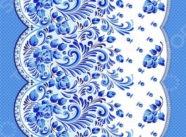 Полотенце вафельное ТексДизайн «Гжель» полотенце вафельное беатрис 50х70