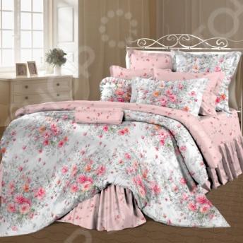 Комплект постельного белья Романтика «Французский букет». 1,5-спальный1,5-спальные<br>Комплект постельного белья Романтика Французский букет - великолепное постельное белье, которое подарит вам максимально комфортный, здоровый сон. Изделия выполнены из высококачественной хлопковой ткани, которая отличается плотным полотняным переплетением. Данный комплект относится к постельному белью перкалевой группы, которая является идеальным решением для повседневного использования. Дело в том, что при производстве перкаля используются некрученые плотные и тонкие нити из длинноволокнистого хлопка, сочетание которых делает перкаль одновременно тонким и прочным. Поэтому в отличии от постельного белья произведенного из бязи, данный комплект будет более гладким, мягким и шелковистым на ощупь. Спать на таком постельном белье одно удовольствие, ведь оно не вызывает аллергии, раздражения и дискомфорта. Главной особенностью комплекта постельного белья Романтика Французский букет является оригинальный дизайн, который придется по вкусу даже самым взыскательным ценителям стиля, красоты и практичности. Красивый и нежный цветочный принт будет достойным украшением уютного интерьера вашей спальни. Такой комплект станет прекрасным подарком вашим близким, ведь вашим подарком станут не только высококачественные изделия, но и спокойный, здоровый сон, яркие и цветные сны и приятные эмоции.<br>