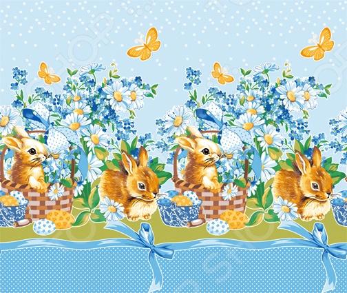 Полотенце вафельное ТексДизайн «Кролик пасхальный» кружка с вашим текстом пасхальный кролик