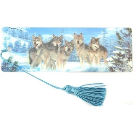 Купить 3D-закладка для книг Липуня «Волки»