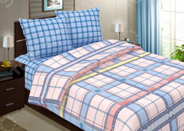 Комплект постельного белья Seta «Глория» Donat. СемейныйСемейные<br>Комплект постельного белья Seta Глория Моnic это удобное постельное белье, которое подойдет для ежедневного использования. Чтобы ваш сон всегда был приятным, а пробуждение легким, необходимо подобрать то постельное белье, которое будет соответствовать всем вашим пожеланиям. Приятный цвет, нежный принт и высокое качество ткани обеспечат вам крепкий и спокойный сон. Бязь, из которой сшит комплект отличается следующими качествами:  достаточно мягка и приятна на ощупь, не имеет склонности к скатыванию, линянию, протиранию, обладает повышенной гигроскопичностью, практически не мнется, не растягивается, не садится, не выгорает, гипоаллергенна, хорошо отстирывается и не теряет при этом своих насыщенных цветов;  современное нанесение рисунка прекрасно передаёт цвет и мельчайшие детали изображения;  за счёт специального переплетения волокон ткань устойчива к механическим воздействиям.  Перед первым применением комплект постельного белья рекомендуется постирать. Перед стиркой выверните наизнанку наволочки и пододеяльник. Для сохранения цвета не используйте порошки, которые содержат отбеливатель. Рекомендуемая температура стирки: 40 С и ниже без использования кондиционера или смягчителя воды. Постельное белье позволит разнообразить весь ваш интерьер. Ведь застеленная таким красивым комплектом кровать не может не привлекать взгляд. Приятная цветовая гамма и классический рисунок наполнят спальню особым шармом и теплом. Каждая минута, проведенная в комнате, будет вызывать исключительно приятные эмоции. Если к вам внезапно заглянут гости, то они без сомнения оценят ваш удачный вкус. Этот комплект может стать прекрасным подарком на свадьбу или удачным подарком на любой праздник для ваших знакомых или родных!<br>