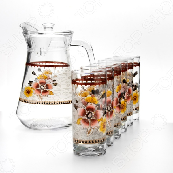 Набор: кувшин и 6 стаканов Loraine LR-24065
