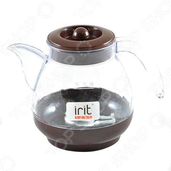 Чайник Irit IR-1124Чайники электрические<br>Чайник электрический Ирит IR-1124 займет достойное место на вашей кухне. Чайник с емкостью 1.2 литра, с корпусом из прочного пластика, имеет мощный нагревательный элемент 600 Вт , который вскипятит воду за несколько минут. Нагревательный элемент изготовлен из алюминия и скрыт. Благодаря стильному дизайну впишется в любую современную кухню. Устанавливается на подставку в любом положении.<br>