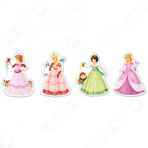 Набор пазлов 4 в 1 Castorland «Принцессы»Другие виды пазлов<br>Набор пазлов 4 в 1 Castorland Принцессы - развлекательный пазл с изображением диснеевских принцесс. В наборе находятся 4 иллюстрации. Предназначен пазл для самых маленьких и для их веселого времяпрепровождения. Такая игра способствует развитию логического мышления, учит различать предметы по цвету, форме и развивает мелкую моторику рук ребенка. Такой пазл станет отличным подарком для вашего ребенка.<br>