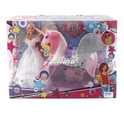 фото Набор игровой с куклой Shantou Gepai «Кукла и единорог» 66658