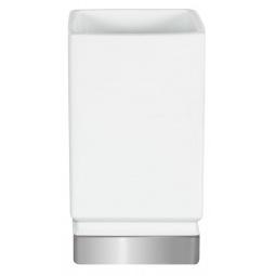фото Стакан для ванной Spirella Roma. Цвет: белый, серебристый