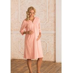 Купить Халат для беременных Nuova Vita 303.20. Цвет: персиковый
