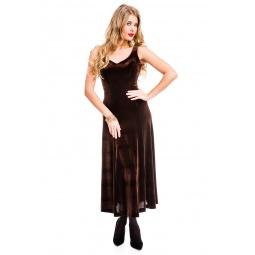фото Платье Mondigo 7017. Цвет: коричневый. Размер одежды: 48