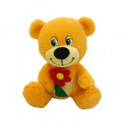 фото Мягкая игрушка со звуком Maxiplay «Мишутка с цветочком»
