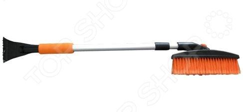 Щетка для снега телескопическая поворотная со скребком Автостоп AB-2212