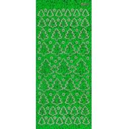 Купить Контурные наклейки JEJE «Переливающиеся новогодние елки»