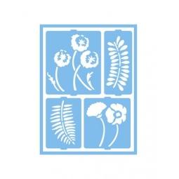 фото Трафарет декоративный для стекла и других поверхностей DecoArt Patio Paint Ботанический сад