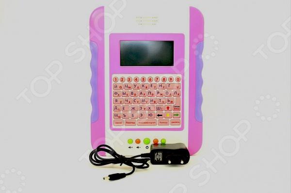 Планшетный компьютер обучающий 1707221Детские обучающие планшеты, компьютеры и телефоны<br>Планшетный компьютер обучающий 1707221 это интерактивный развивающий компьютер, который позволит вашему малышу освоить чтение и развить слух. В обучающем планшете 11 веселых игр, 35 функциий, динамик, кнопка переключения языка, упражнения буквы, цифры, музыка, игры, слова. Все детали выполнены из нетоксичного пластика, поэтому полностью безопасны для ребенка. Планшет работает от сети адаптер в комплекте и от 4-х батареек типа АА в комплект не входят .<br>