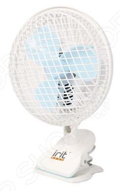 Вентилятор Irit IRV-027Вентиляторы<br>Вентилятор Irit IRV-027 мощностью 20 Ватт, предназначен для поддержания оптимальных климатических условий в вашем доме в жаркие летние дни. Модель оснащена регулировкой по наклону 180 и двумя режимами работы с механическим управлением. Устройство закрепляется на рабочей поверхности при помощи прищепки. Для вашей безопасности предусмотрена защитная решетка.<br>