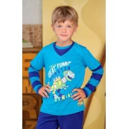 фото Футболка для мальчиков Detiland AW15-UKN-BTL-018. Цвет: бирюзовый. Рост: 104 см