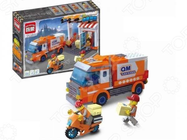 Конструктор игровой Brick QM Express 1717115Игровые конструкторы<br>Конструктор игровой Brick QM Express 1717115 прекрасный подарок для юного конструктора! Комплект содержит детали, с помощью которых можно собрать транспорт курьерской службы. Игровой набор не только обучает и развлекает, но и помогает развивать моторику рук, логическое мышление и воображение ребенка. Все детали выполнены из нетоксичных материалов, поэтому полностью безопасны. Рекомендуется для детишек от 6 лет и старше.<br>