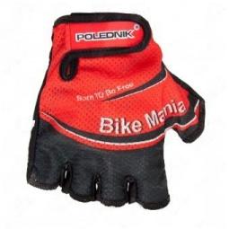 фото Велоперчатки Polednik Bike Mania. Цвет: красный. Размер: 10 L