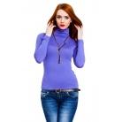 Фото Водолазка Mondigo 046. Цвет: ярко-сиреневый. Размер одежды: 44