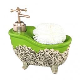 Купить Диспенсер с губкой Elan Gallery «Ванна зеленая»