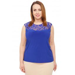 Блуза Элеганс «Маркиза». Цвет: васильковый