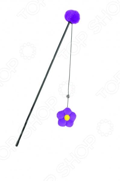 Игрушка для кошек Beeztees «Удочка с цветком» когтерез для кошек beeztees 8см
