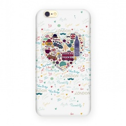 фото Чехол для iPhone 6 Mitya Veselkov London «Сердце». Цвет: белый
