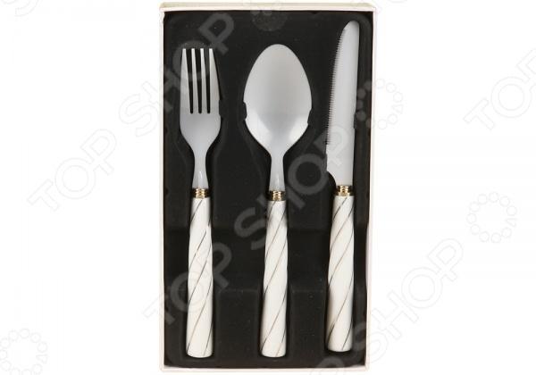 Набор столовых приборов POMIDORO R0303 Nobile Bianco