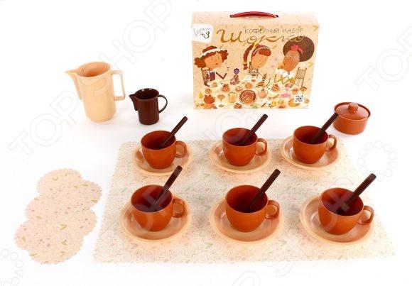 Набор посуды игрушечный Росигрушка «Кофейный. Шокко» игровые наборы море чудес набор грот русалочки
