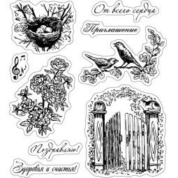 фото Набор штампов прозрачных ScrapBerry's Садовая коллекция-2