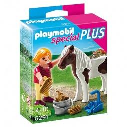 фото Набор фигурок к игровому конструктору Playmobil «Дополнение: Девочка и пони»