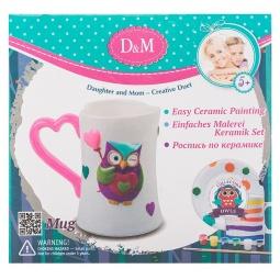 Купить Набор для росписи керамики Делай с Мамой «Кружка Совушка»