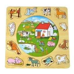 Купить Пазл деревянный ADEX «Деревня»