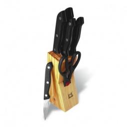 фото Набор ножей в деревянной подставке Irit IRH-502