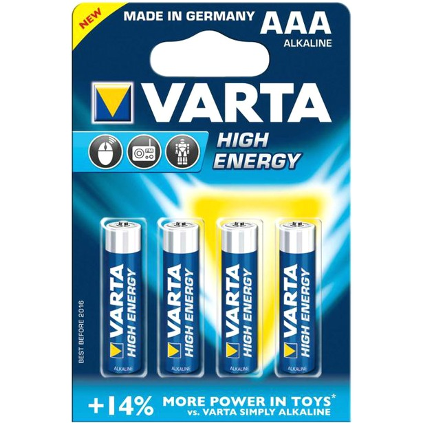 фото Элемент питания VARTA High energy AAA 4 шт.