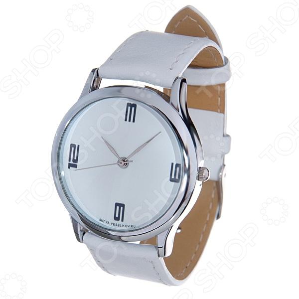 Часы наручные Mitya Veselkov «3-6-9-12» MV.White