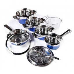 фото Набор кухонной посуды Universal 1019. Цвет: синий