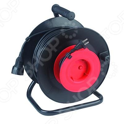 Удлинитель силовой на катушке из пластика Эра RP-1-2x1.0-30m эра силовой удлинитель эра rp 4 2x0 75 20m 20м