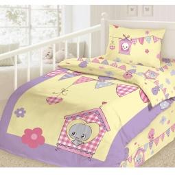 фото Детский комплект постельного белья Облачко «Птички»