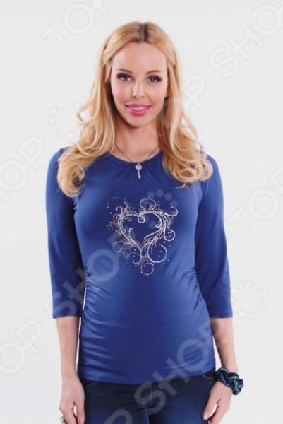 Кофта для беременных Nuova Vita 1313.11. Цвет: синий