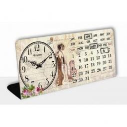 фото Часы настольные с календарем Феникс-Презент «Леди»