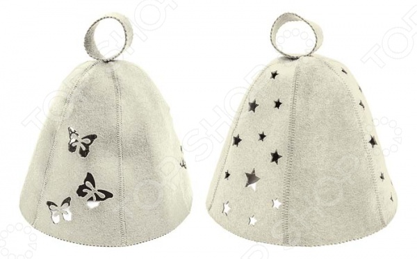 Шапка для бани и сауны Банные штучки Звезды и бабочки набор женский для бани и сауны банные штучки 33301
