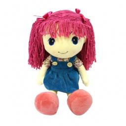 фото Кукла мягкая Maxitoys «Стильняшка с малиновыми волосами»