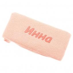 фото Полотенце подарочное с вышивкой TAC Инна. Цвет: персиковый