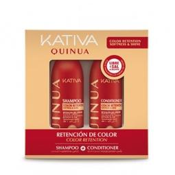 Купить Набор для окрашенных волос: шампунь и коондиционер Kativa 65503071 Quinua «Защита цвета»