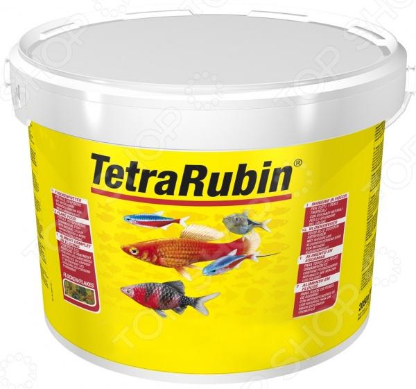 Корм для рыб Tetra RubinВитамины и добавки. Корм для рыб<br>Корм для рыб Tetra Rubin сбалансированная смесь в виде хлопьев, содержащая натуральные добавки для поддержания яркого окраса рыб. Результат виден уже после 2-х недель кормления. Корм содержит необходимые витамины, питательные вещества и микроэлементы, способствующие укреплению организма, улучшению пищеварения и поддержания запаса энергии. Благодаря витамину С обеспечивается надежная защита и профилактика заболеваний, повышается сопротивляемость организма. Состав: рыба и побочные рыбные продукты, зерновые культуры, дрожжи, экстракты растительного белка, моллюски и раки, масла и жиры, водоросли, сахар, минеральные вещества. Содержание: белок 49 , масла и жиры 10 ; клетчатка 2 , вода 6 . Добавки и витамины: А 49880МЕ кг, D3 2780МЕ кг, марганец 84 мг кг, цинк 50 мг кг, железо 33 мг кг, кобальт 0,6 мг кг, красители, антиоксиданты. Рекомендации по кормлению: кормить несколько раз в день маленькими порциями, объем порции должен быть рассчитан таким образом, чтобы рыбки справлялись с ним в течение 3-4 минут.<br>