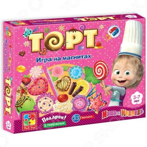 Игра развивающая на магнитах Vladi Toys «Юный повар. Торт» VT3003-01